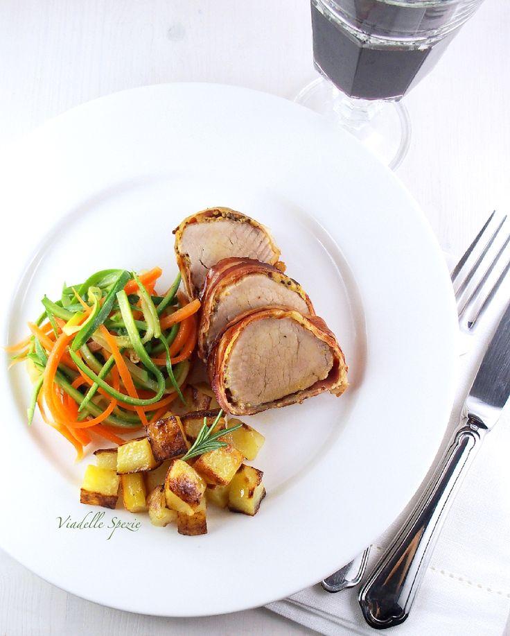 Filetto di maiale in crosta di senape e pancetta. | Via delle Spezie