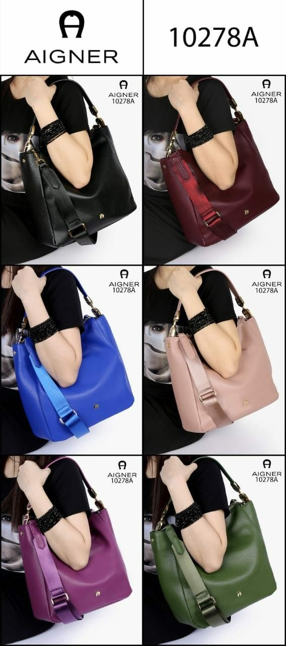 73c93a6ad4 ETIENNE AIGNER Women s Roma HOBO Shoulder Bags Clemence Leather Like ORI  Hardware GOLD(10278A)Size 30x30x12cm Berat 900Gram Warna Black Pink Blue  Green ...