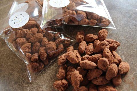 Chocolate coated smoked almonds