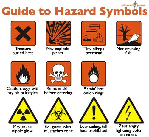 A *Funny* Guide to Hazard Symbols | Just For Fun! | Pinterest ...