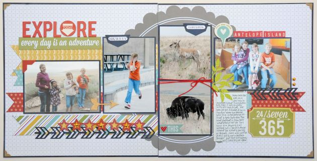 Explore double page layout by Jana Eubanks