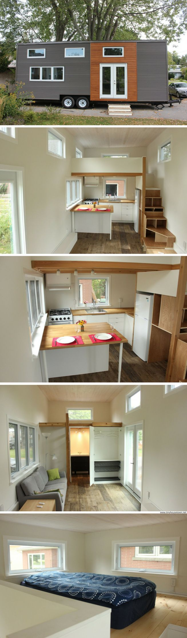 A 390 sq ft contemporary tiny home available for sale in Kingston, Ontario