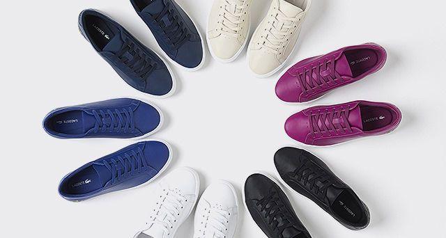 Ganz im Geist des L.12.12 Poloshirts zelebriert der L.12.12 Schuh seine Neuerfindung mit neuen Materialien und Design für die ganze Familie. In dieser Saison präsentiert Lacoste zwei Neuheiten: den L.12.12 Schuh für Frauen und den L.12.12 Schuh für Kinder.