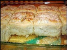 Bisquick, sour cream, 7-up and butter!.... These are excellent!!!! So easy and soooo good! Recipe is hard to find so here it is: 7 Up Biscuits  4 cups Bisquick 1 cup sour cream 1 cup 7-up 1/2 cup melted butter