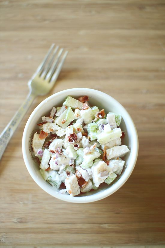 Apple Bacon Chicken Salad for One