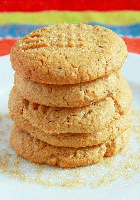 Печенье с арахисовым маслом и коричневым сахаром.