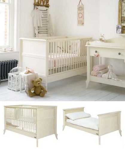 mamas and papas antique pine cot bed 2