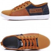 Canvas Plimsolls – Casual Wear Shop | Brown canvas lace up shoes for men | Men's fashion trends