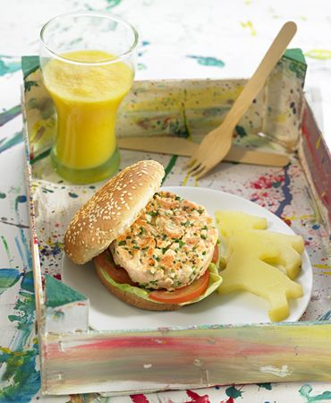 Salmon Burger by delicooks: Healthy and kid friendly! #Salmon_Burgers #Healthy