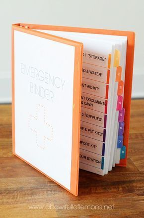 Family Emergency Binders: Create Your Own from Ready-Made Resources and Free Downloads