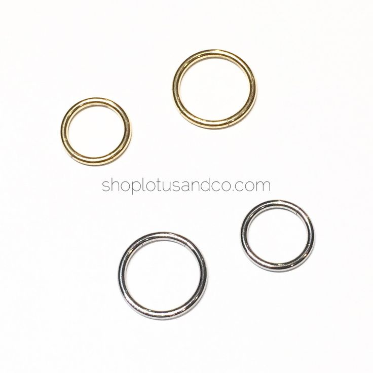 Material: implant grade surgical steelSize: 16gInner diameters: small is 8mm. large is 10mm (1cm).BODY JEWELRY IS FINAL SALE. NO RETURNS/REFUNDS.