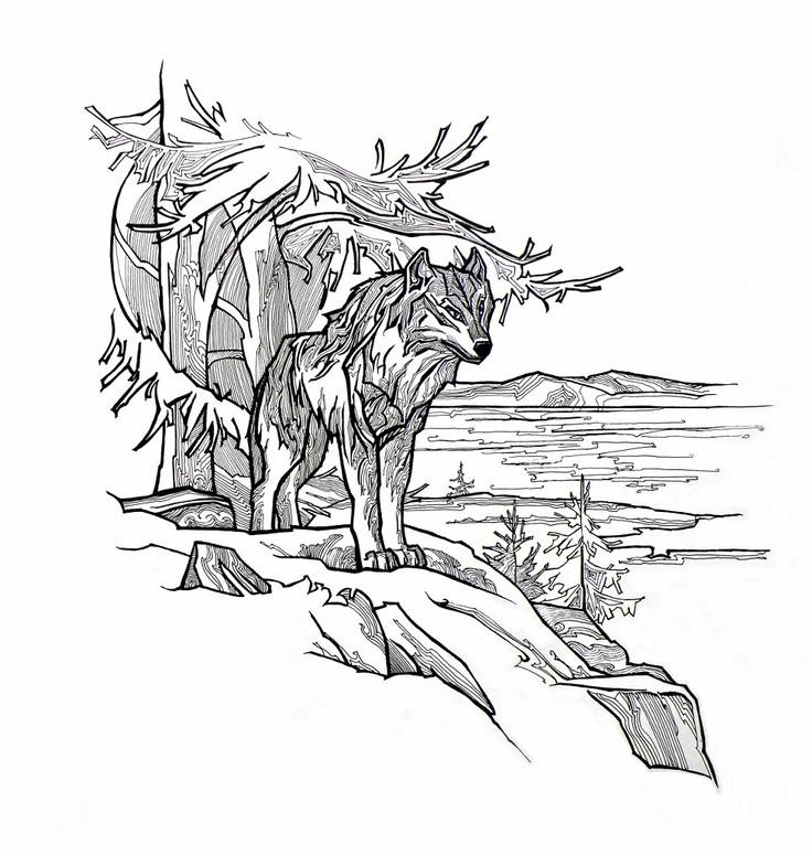 Картинки волки графика
