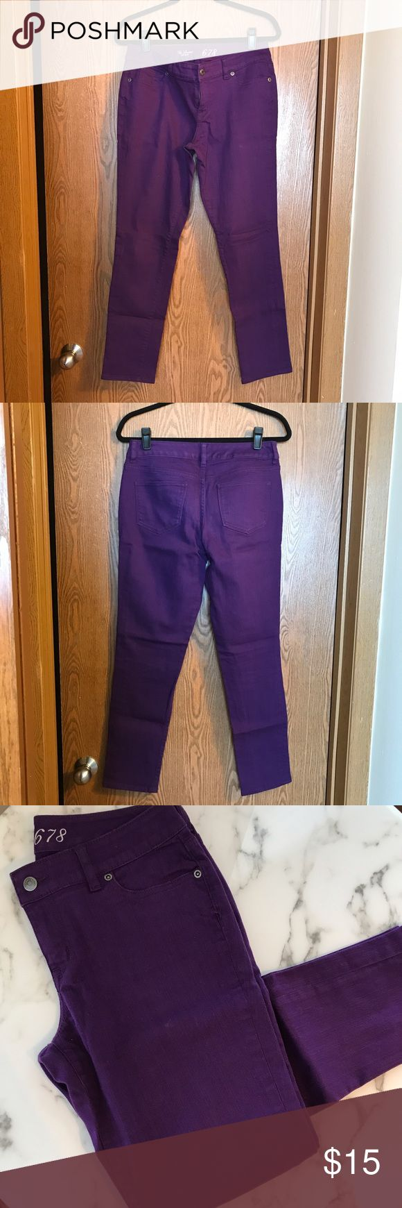 Purple skinny jeans Purple denim skinny jeans. Previously worn, but very rarely. Still in fantastic shape. The Limited Jeans Skinny