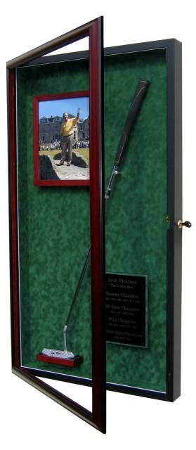 Golf Putter Display Case with Photo Frame & Name Plate....Perfect for that golf club handed down from your father or grandfather.