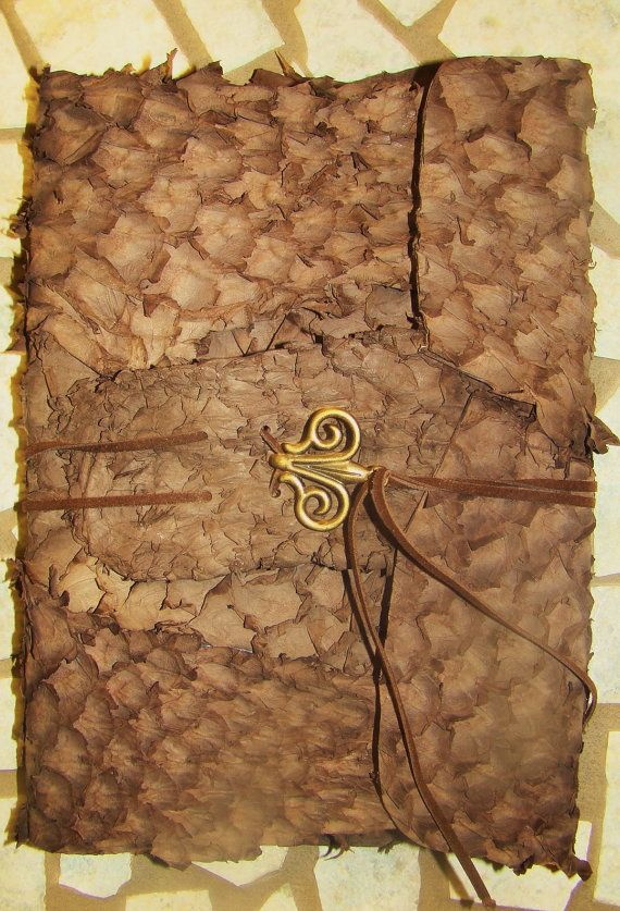 Chocolate Leather Journal with Metal Closure