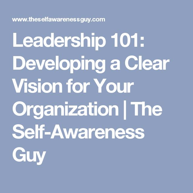 Leadership 101: Developing a Clear Vision for Your Organization | The Self-Awareness Guy