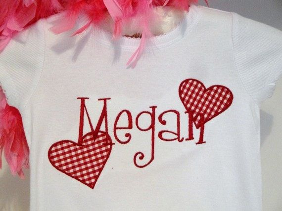 Girls Valentines Shirt Personalized Valentine by LiviLouSewShoppe, $23.99