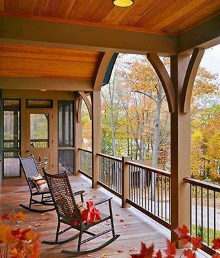 Porches Autumn And The Porch On Pinterest