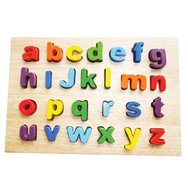 It's easy as abc with raised pieces for gripping these colourful letters. The alphabet puzzle has a generous board size with thick, fine finished letters. 29 x