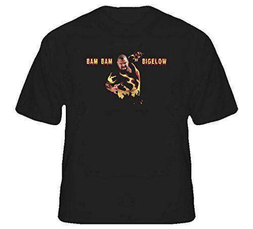 Bam Bam Bigelow Wrestling Legend T Shirt L Black. 100% Cotton Tee.