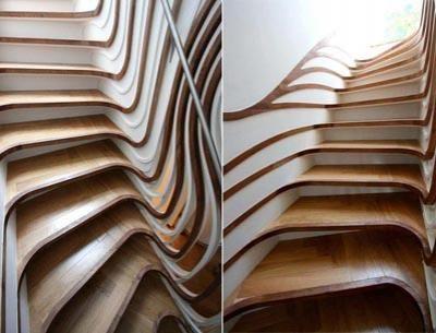 Изогнутая лестница (Atmost Studio)