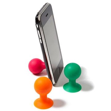 Ipod junkies can suction an iStand to the back of a smart phone for hands-free movie viewing and more. $5; amazon.com