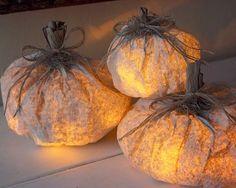 Le Frufrù: Lanterne a forma di zucca con i sacchetti di carta