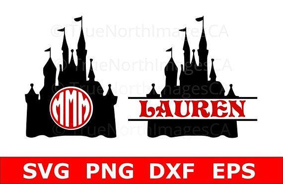 Disney Castle SVG / Disney Monogram SVG / Circle Monogram SVG / Split Monogram svg / Disney Castle Vector / svg Files for Cricut