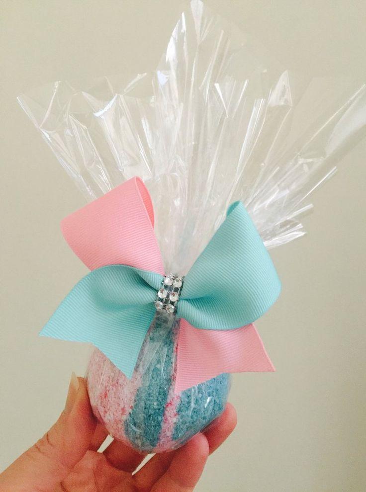 Cotton Candy Tic Tock Mini Cheer Bow Bathbomb set handmade bath fizzy