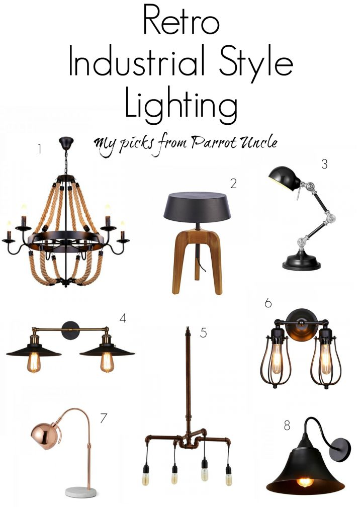 A great selection of retro industrial style lighting from @parrotuncle