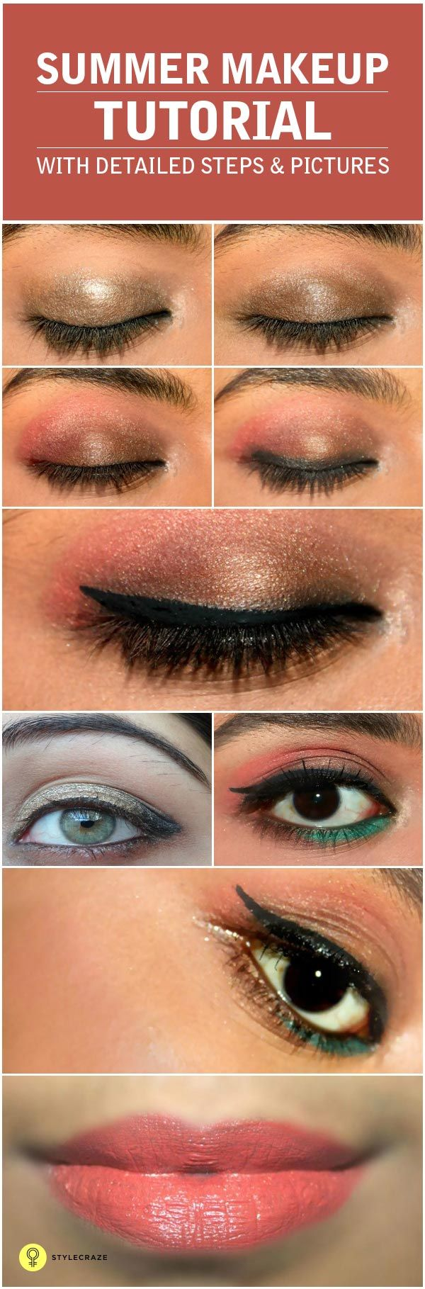 It's really annoying when your makeup starts melting during the summer months. In this summer lighten up your makeup by following this ... #makeup