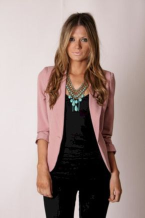 Pretty fall outfits with blazer inspiration (30)