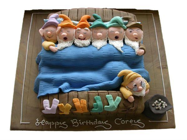 Seven Dwarfs in Bed - Cakes For Both Boys & Girls - Munch@Coughlans