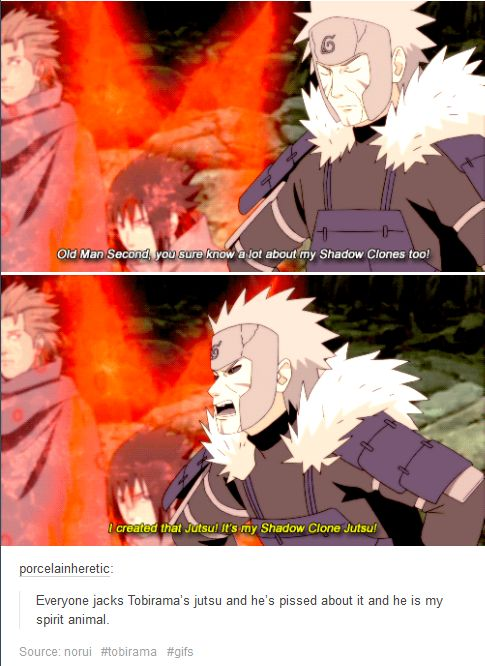 Naruto (speaking) & Tobirama (replying) Even the dignified Tobirama gets funny facial expressions when pissed.
