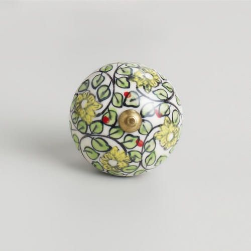 One of my favorite discoveries at WorldMarket.com: Green Floral Swirl Ceramic Knobs, Set of 2