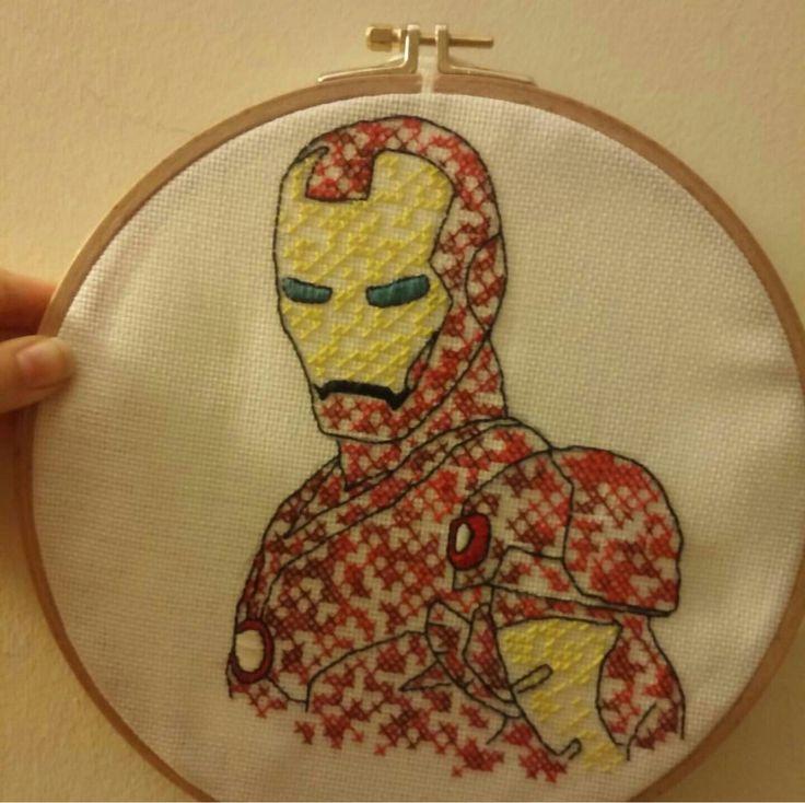 Iron man embroidery
