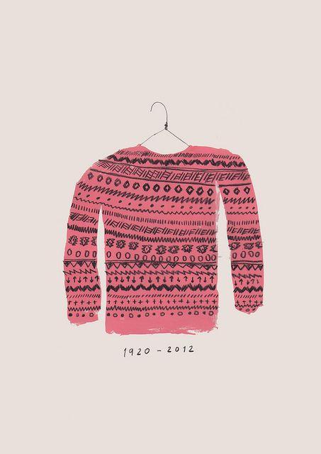 pink sweater.