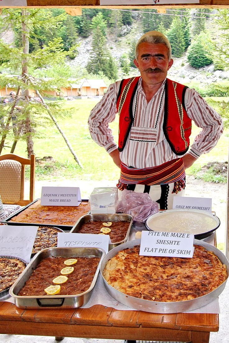 Traditional food showcase in Valbona Valley National Park in the Albanian Alps