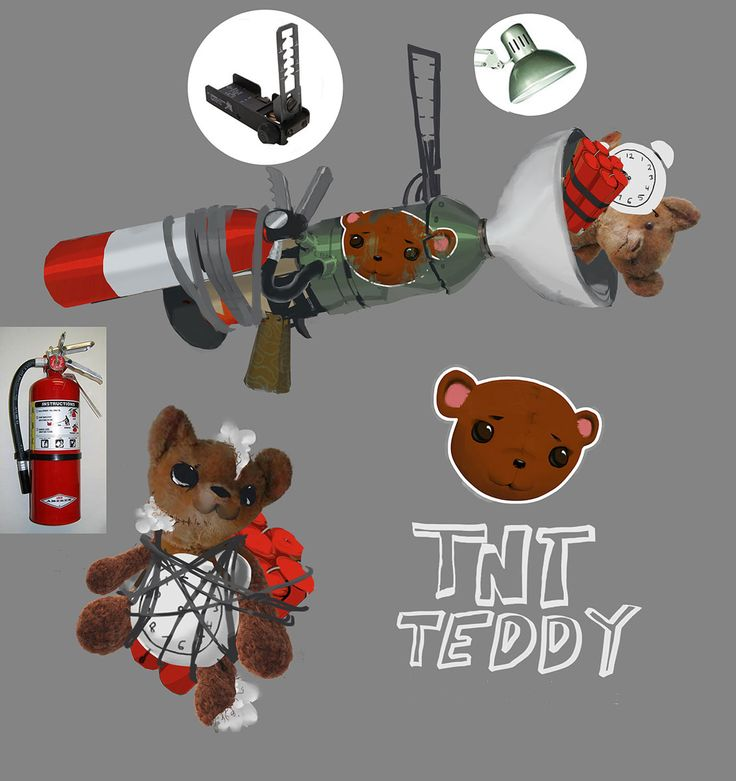 TNT Teddy Weapon from Sunset Overdrive