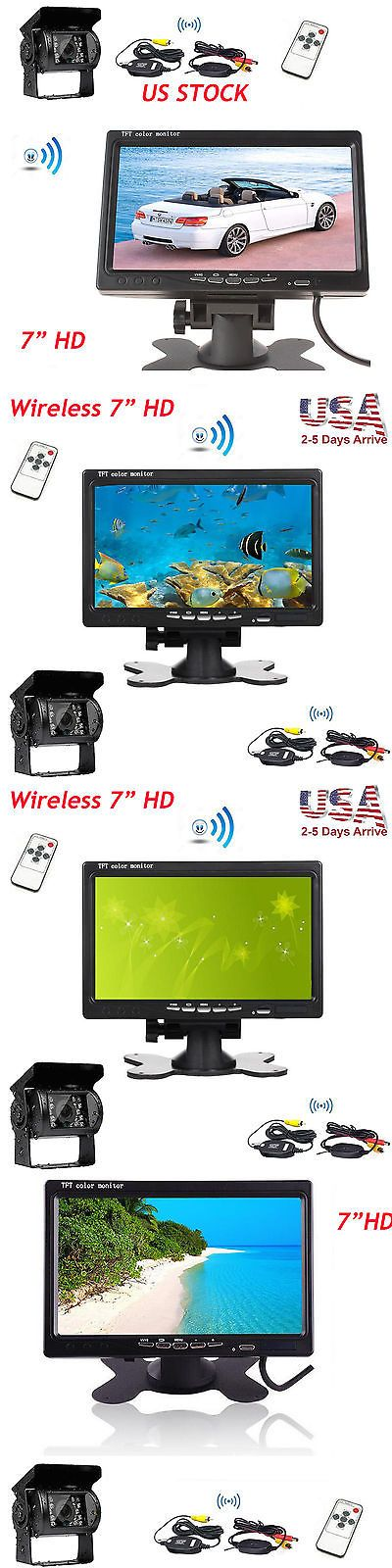Rear View Monitors Cams and Kits: 7 Tft Lcd Car Rear View Hd Color Monitor+Wireless Backup Camera For Truck Rv -> BUY IT NOW ONLY: $56 on eBay!