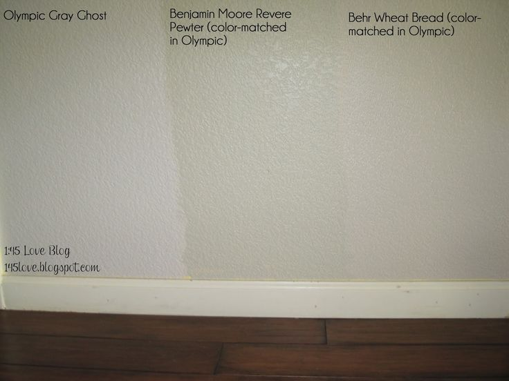 Greige Paint Wall Swatches: Olympic Gray Ghost, Benjamin