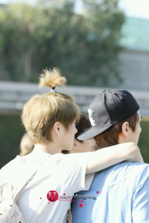 Exo - Luhan and Sehun ; QUQ hunhan. at disneyland. god save me now
