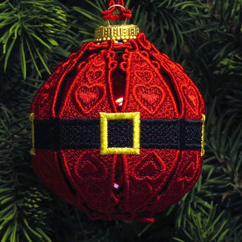 Machine Embroidery Designs K-Lace™ Christmas Ornaments
