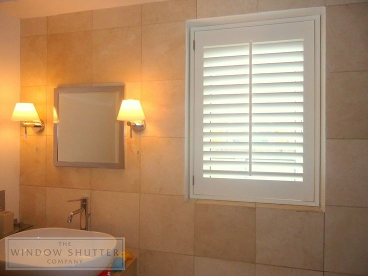 Simple Hollywood Shutters Perfect For An Elegant Bathroom