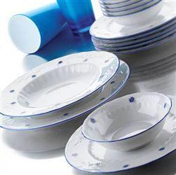 Kütahya Porselen Mina Mavi 24 Parça Yemek Seti