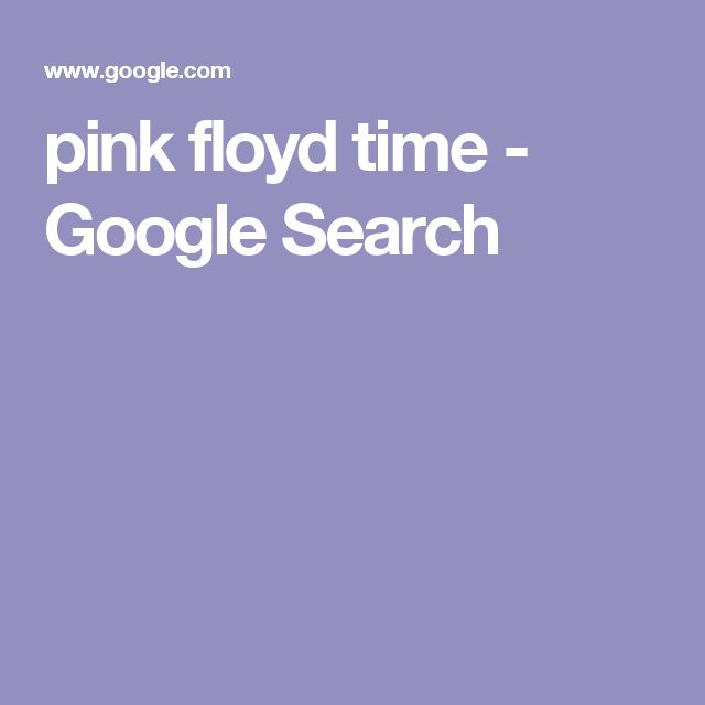 pink floyd time - Google Search