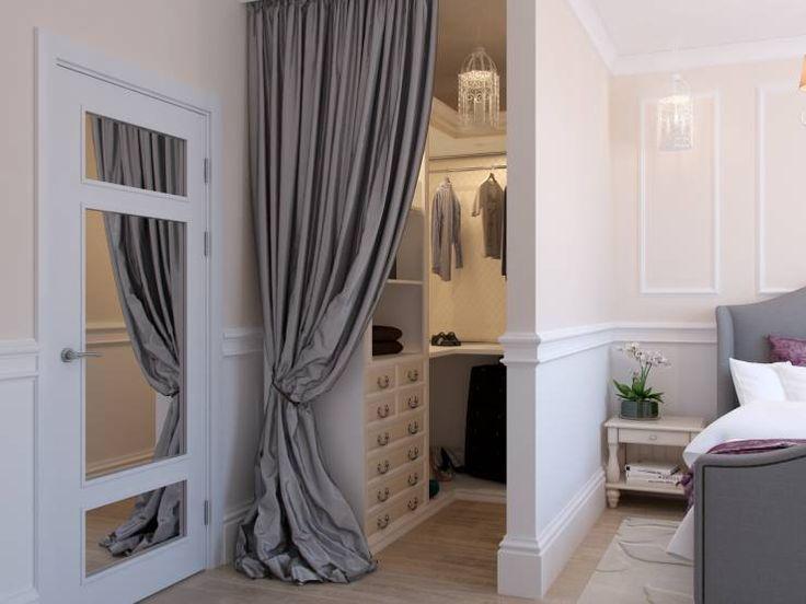Vorhang Statt Tur Im Ankleidezimmer Dekorasi Rumah Rumah Mebel