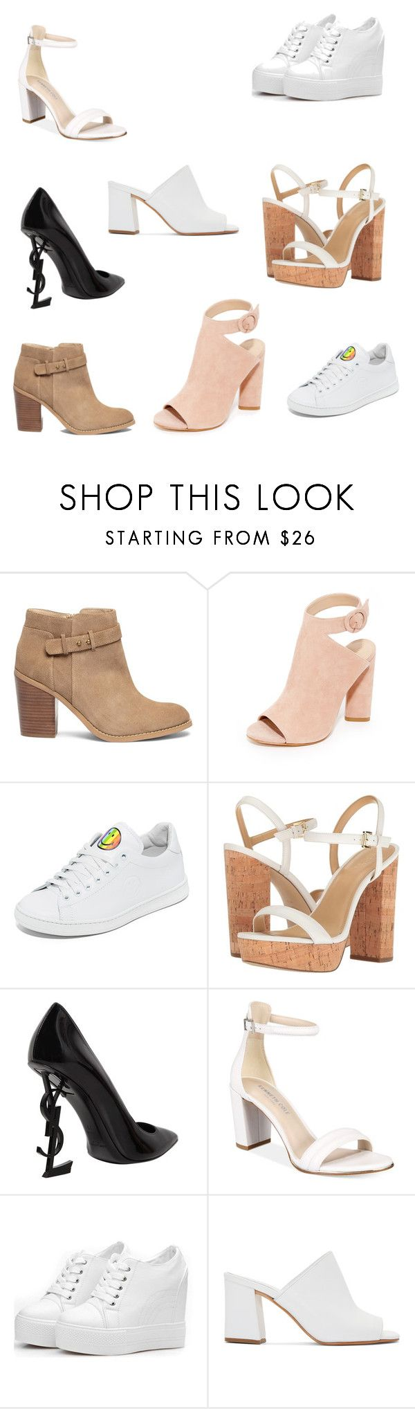 """Shoes 62"" by audjvoss ❤ liked on Polyvore featuring Sole Society, Kendall + Kylie, Joshua's, MICHAEL Michael Kors, Yves Saint Laurent, Kenneth Cole and Maryam Nassir Zadeh"