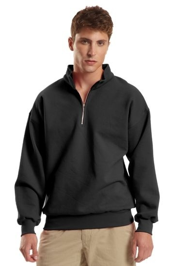 UltraCotton Cadet Collar Sweatshirt. Your grandfather rocked a 1/4 zip at the cottage, your dad wears one on the boat, and now you can get your 1/4 zip on!