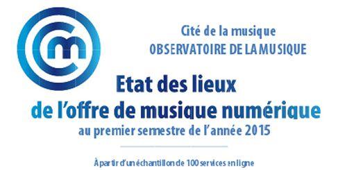 Etat des lieux de l'offre de musique numérique au 1er semestre 2015 via  Observatoire Musique @MusObs